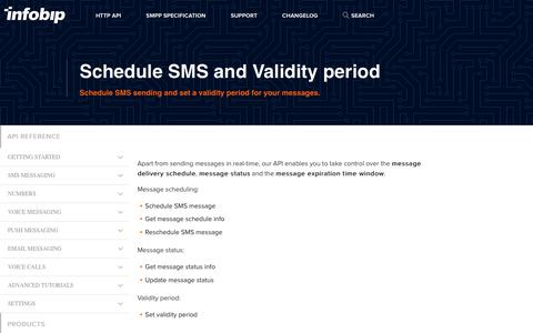 Schedule SMS and Validity period