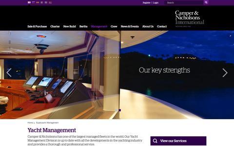 Screenshot of Team Page camperandnicholsons.com - Superyacht Management | Luxury Yacht Management | Camper & Nicholsons Int. - captured Jan. 24, 2016