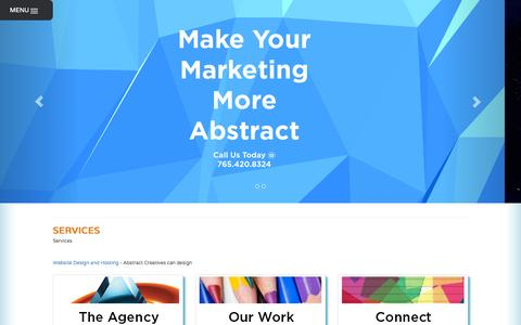 Screenshot of Services Page abstractcreatives.com - Our Services - Abstract Creatives - captured Oct. 29, 2014