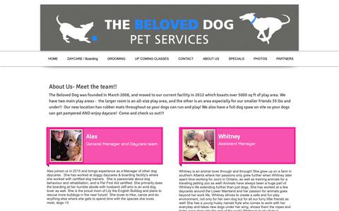 Screenshot of About Page thebeloveddog.com - The Beloved Dog - Burnaby, BC - About Us - captured Nov. 7, 2018