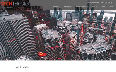 Screenshot of Locations Page techteriors.com - Locations — Techteriors - captured Oct. 20, 2018