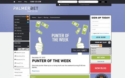 Screenshot of Blog palmerbet.com - Palmerbet -    Palmerbet.com - captured Dec. 6, 2015