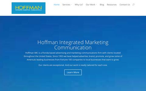 Screenshot of Home Page hoffmanimc.com - Advertising Agency in Jacksonville | Digital Marketing - captured Oct. 2, 2014