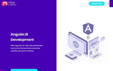 Screenshot of mindinventory.com - AngularJS Development Services Company, Hire AngularJS Developers India - captured Sept. 17, 2017
