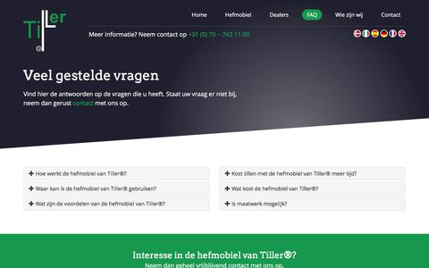 Screenshot of FAQ Page tiller.eu - Tiller − FAQ - captured Feb. 26, 2016