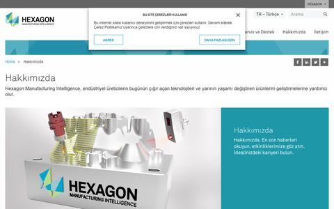 Screenshot of About Page hexagonmi.com - Hakkımızda | Hexagon Manufacturing Intelligence - captured Oct. 21, 2018