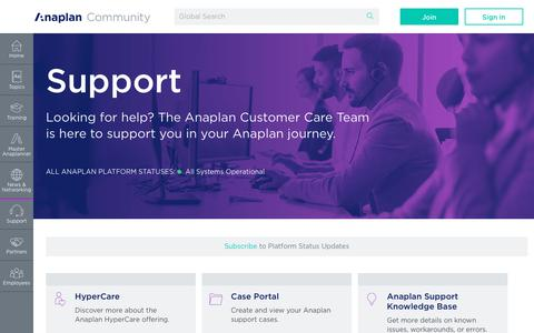 Support - Anaplan Community