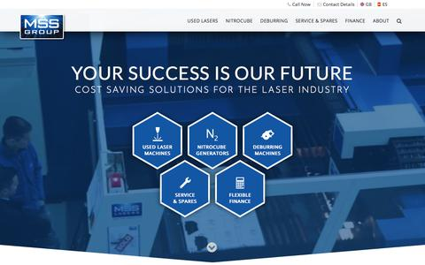 Screenshot of Home Page msslasers.com - Used CNC Laser Cutting Machines For Sale - MSS Lasers - captured July 26, 2018