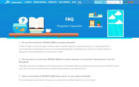 Screenshot of FAQ Page gruposarlo.com.br - FAQ - Grupo Sarlo - captured Nov. 5, 2018