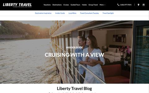 Screenshot of Blog libertytravel.com - Travel Articles | Liberty Travel - captured Oct. 19, 2018