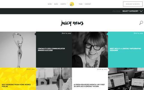 Screenshot of Blog lemonly.com - Infographic Design Blog from Lemonly - captured July 21, 2015
