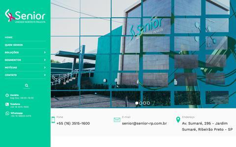Screenshot of Home Page senior-rp.com.br - Senior Noroeste Paulista - captured Oct. 18, 2018