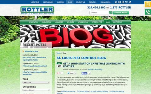 Screenshot of Blog rottler.com - Rottler Pest And Lawn Solutions Blog - captured Sept. 24, 2014