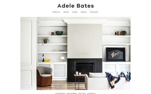 Screenshot of Home Page adelebates.com.au - Adele Bates . Interior Design Melbourne - captured Nov. 20, 2016