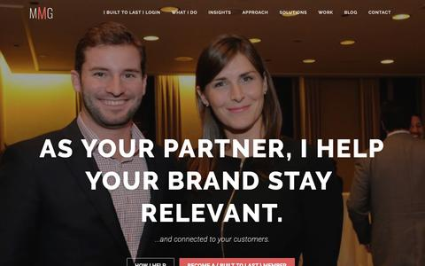 Screenshot of Home Page meiermarketing.com - MMG: Meier Marketing Global - Built to Last - captured Oct. 17, 2018