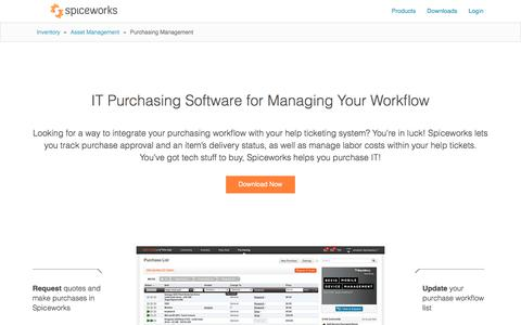 Free IT Purchasing Software for Purchasing Workflow from Spiceworks
