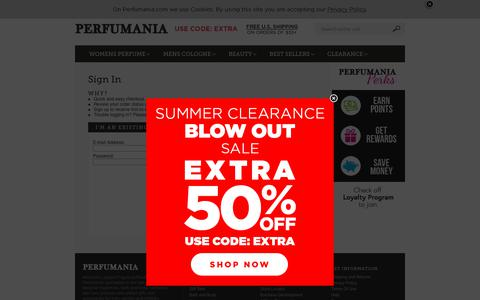 Screenshot of Login Page perfumania.com - Perfumania.com - captured Aug. 30, 2018