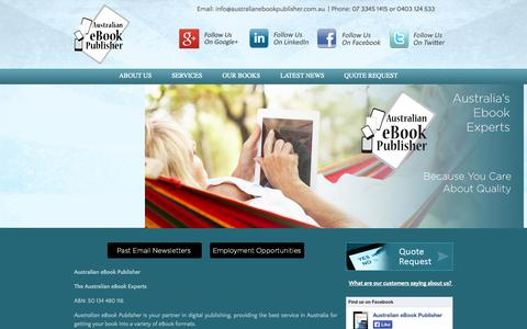 Screenshot of About Page australianebookpublisher.com.au - About Australia ebook Publisher - captured Sept. 30, 2014