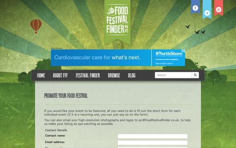 Screenshot of Signup Page foodfestivalfinder.co.uk - Promote your food festival   Food Festival Finder - captured Sept. 25, 2017