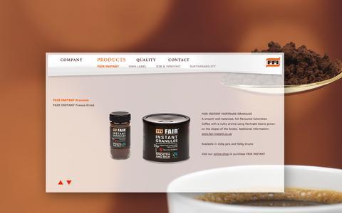 Screenshot of Products Page ffi-uk.com - FFI - Fine Foods International - captured Oct. 6, 2014