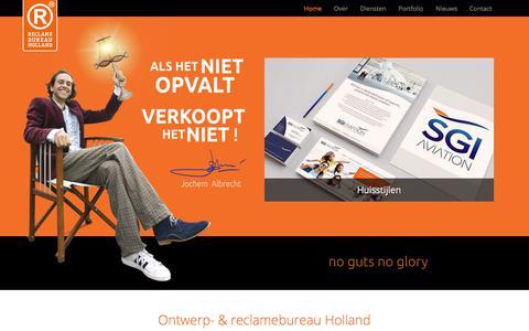 Screenshot of Home Page reclamebureauholland.nl - Ontwerp- & Reclamebureau Holland - Bussum, Hilversum en Amsterdam - captured Oct. 13, 2017