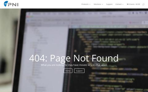 Screenshot of Jobs Page pnicorp.com - 404 | Page Not Found | PNI Sensor - captured Sept. 26, 2018