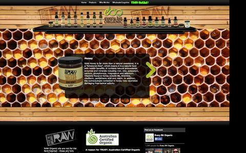 Screenshot of Products Page everybitorganic.com.au - Every Bit Organic - RAW - captured Sept. 30, 2014