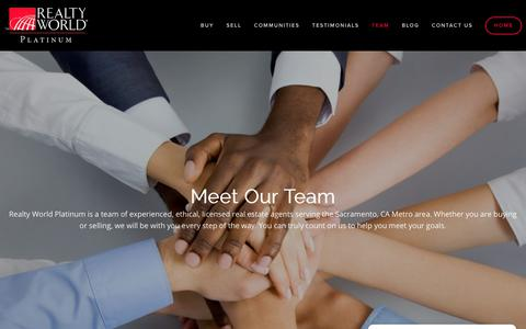 Screenshot of Team Page sacplatinumgroup.com - Meet The Realty World Platinum Team — Mark Daya - captured Nov. 16, 2018