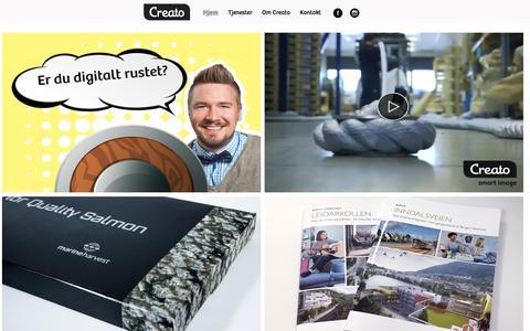 Screenshot of Home Page creato.no - Reklamebyrå Bergen - Creato Media - Grafisk design Bergen - captured Sept. 8, 2017
