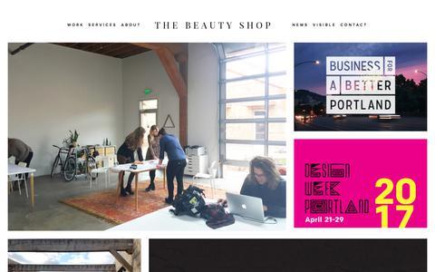Screenshot of Press Page thebeauty-shop.com - News — Branding, Design & Squarespace Specialists, Portland - captured Nov. 5, 2017