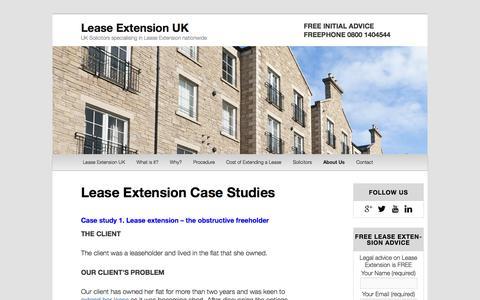 Screenshot of Case Studies Page leaseextensionuk.co.uk - Lease Extension Specialists | Lease Extension UK - captured Sept. 29, 2014
