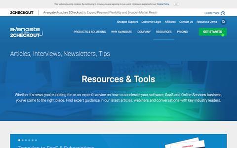 Screenshot of avangate.com - Software News   Commerce Resources   eCommerce Trends - captured July 6, 2017