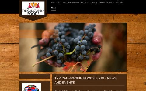 Screenshot of Press Page typicalspanishfoods.com - sial, anuga, alimentaria - captured Aug. 3, 2015