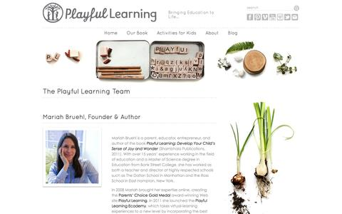 Screenshot of Team Page playfullearning.net - The Playful Learning Team » Playful Learning - captured Sept. 19, 2014