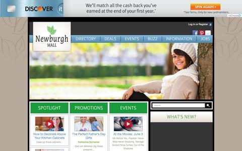 Screenshot of Home Page newburghmall.com - Newburgh Mall :: 1401 Route 300, Newburgh, NY. 12550 :: 845-564-1400 - captured June 9, 2016