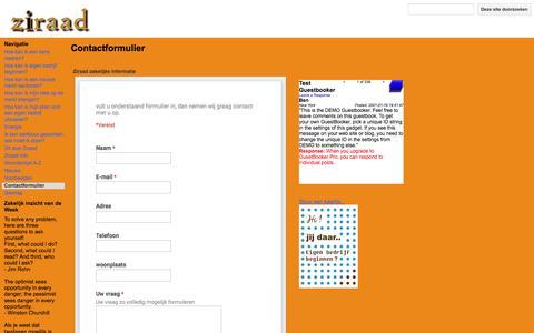 Screenshot of Contact Page google.com - Contactformulier - Ziraad - captured Nov. 29, 2016