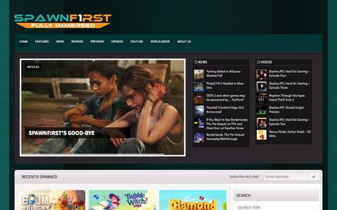 Screenshot of Home Page spawnfirst.com - SpawnFirst | Fully Immersed - captured Sept. 19, 2014