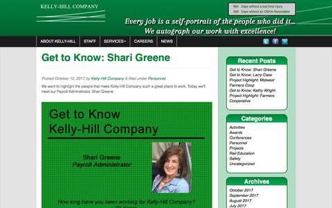 Screenshot of Press Page kellyhillco.com - Kelly Hill Company Blog | Every job is a self-portrait of the people who did it… We autograph our work with excellence! - captured Oct. 17, 2017