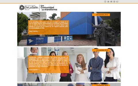 Screenshot of Blog delasalle.edu.mx - Blog – Universidad DeLaSalle Bajío – Otro sitio realizado con WordPress - captured Dec. 2, 2016
