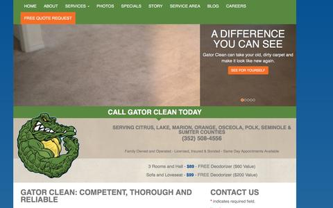 Screenshot of About Page gatorclean.net - About Us | Gator Clean - captured Dec. 7, 2015