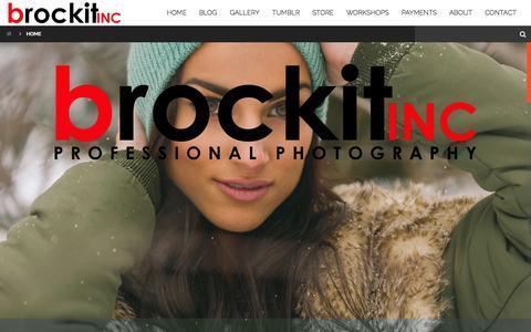 Screenshot of Home Page brockit.com - brockit inc. - captured Oct. 5, 2014