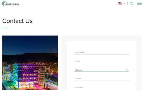 Screenshot of Contact Page huvepharma.com - Contact | Huvepharma - captured Nov. 16, 2019
