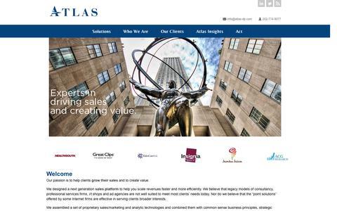 Screenshot of Home Page atlasdigitalpartners.com - Atlas Digital Partners - captured Sept. 30, 2014