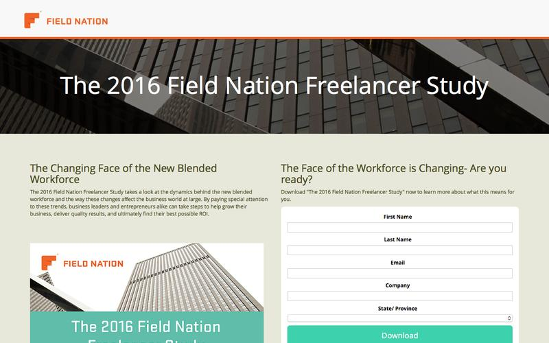 The 2016 Field Nation  Freelancer Study