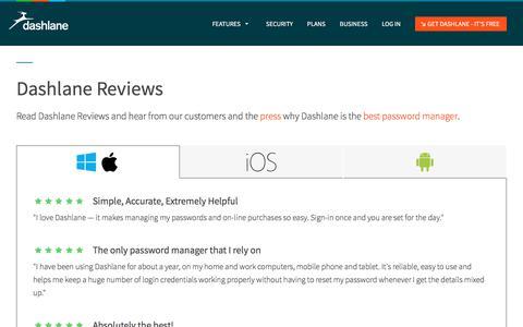 Reviews | Dashlane