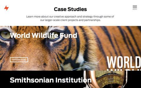 Screenshot of Case Studies Page fuszion.com - Fuszion | Graphic Design | Alexandria, VA -   Case Studies - captured Aug. 5, 2016