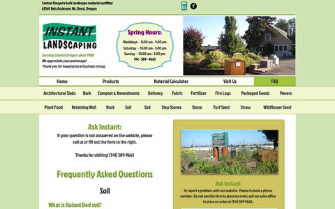 Screenshot of FAQ Page instantlandscaping.com - Instant Landscaping Co. | FAQ - captured April 23, 2017