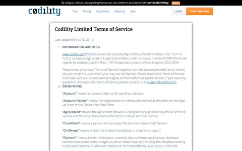 Terms for companies - Codility