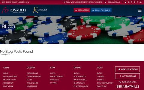 Screenshot of Press Page baymillscasinos.com - Press - Bay Mills Resort & Casinos - captured Oct. 10, 2017