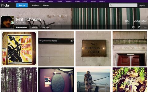 Screenshot of Flickr Page flickr.com - Flickr: Demotive Mat J's Photostream - captured Oct. 23, 2014